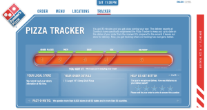 Il pizza tracker di Domino